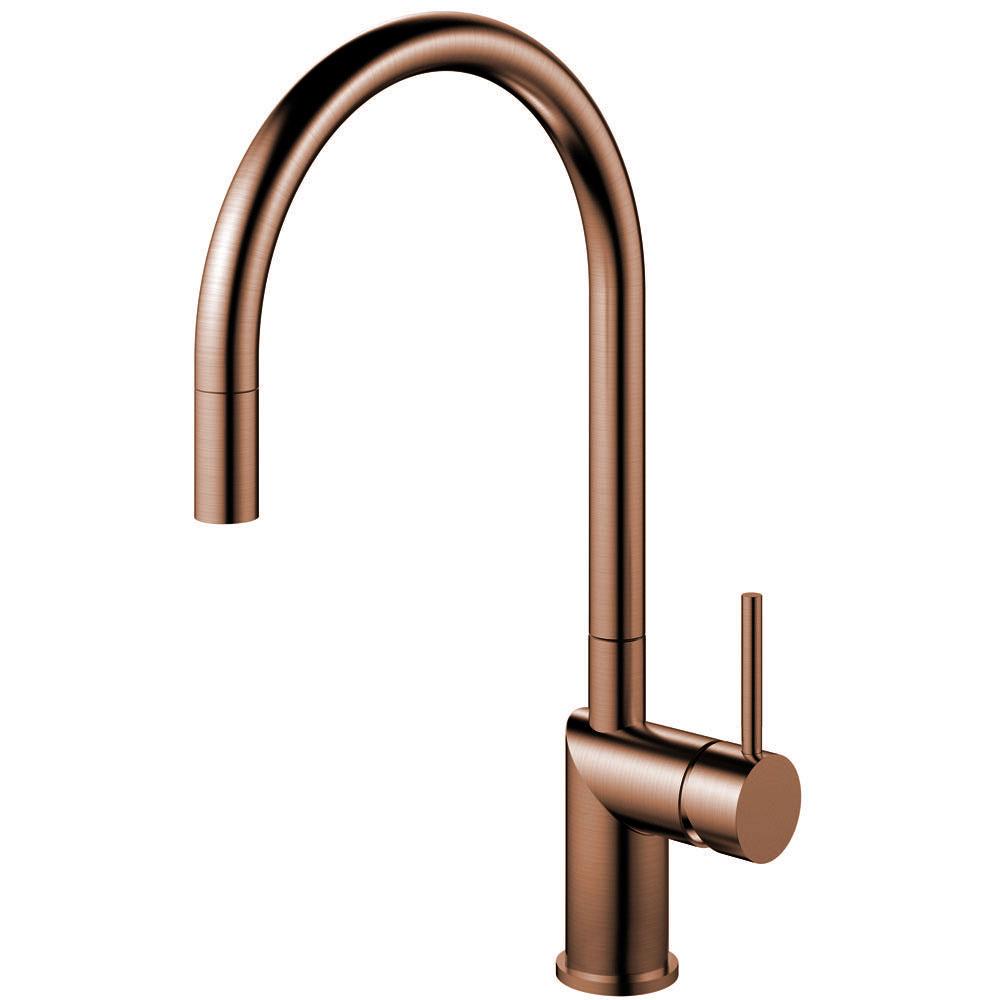 Copper Single Hole Kitchen Faucet Pullout hose - Nivito RH-150-EX
