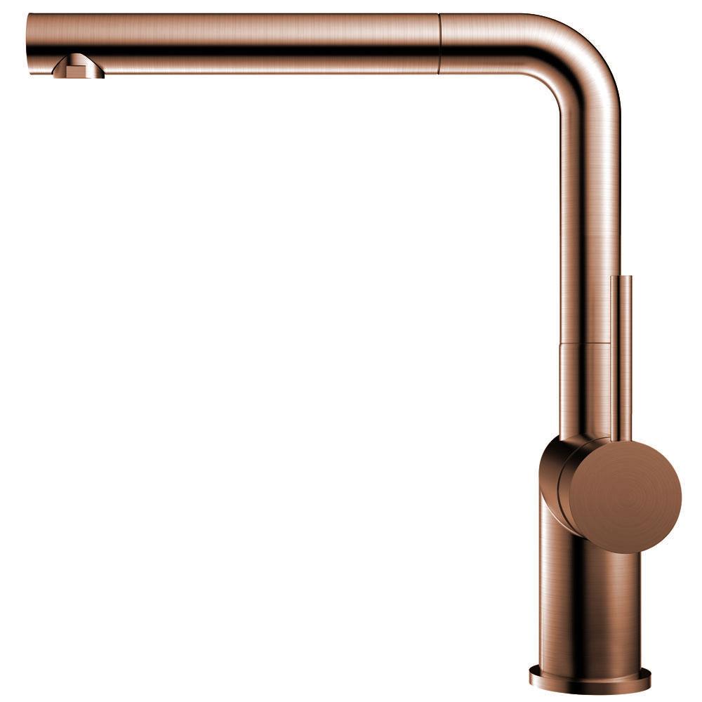 Copper Single Handle Kitchen Faucet Pullout hose - Nivito RH-650-EX