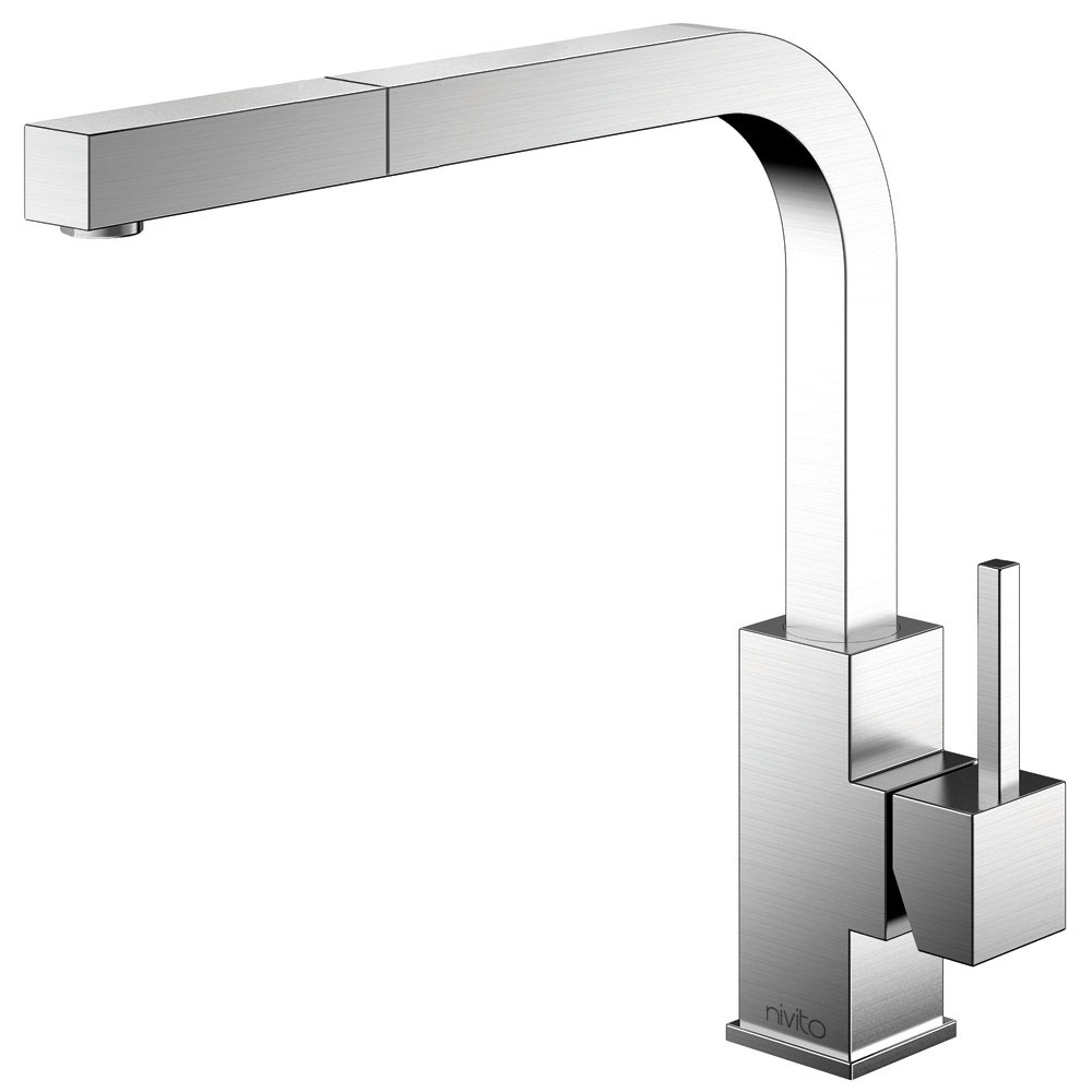 Stainless Steel Single Hole Kitchen Faucet - Nivito SP-300