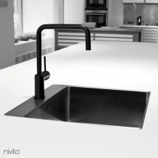 Black faucet single handle
