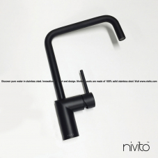 Black design single hole faucet