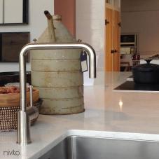 Stainless Steel Kitchen Faucet - Nivito 3-RH-300