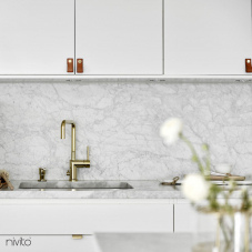 Gold brass kitchen single hole faucet