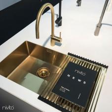 Brass/Gold Kitchen Sink - Nivito 1-CU-500-180-BB