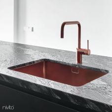 Copper Kitchen Sink - Nivito 1-CU-500-BC