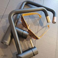 Copper Kitchen Faucet Black/Copper - Nivito 1-RH-350-BISTRO