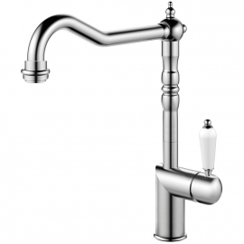 Stainless Steel Single Hole Kitchen Faucet - Nivito CL-100