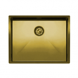 Brass/Gold Kitchen Basin - Nivito CU-550-BB