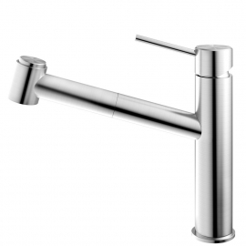 Stainless Steel Single Hole Kitchen Faucet Pullout hose - Nivito EX-800