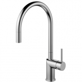 Stainless Steel Single Hole Kitchen Faucet Pullout hose - Nivito RH-100-EX