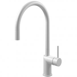 White Single Hole Kitchen Faucet Pullout hose - Nivito RH-130-EX