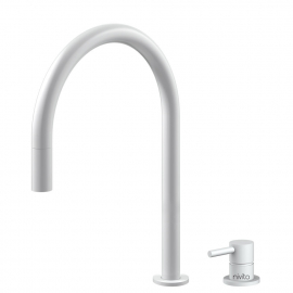 White Kitchen Faucet Pullout hose / Seperated Body/Pipe - Nivito RH-130-VI