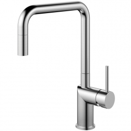 Stainless Steel Single Hole Kitchen Faucet Pullout hose - Nivito RH-300-EX