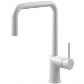White Single Hole Kitchen Faucet Pullout hose - Nivito RH-330-EX