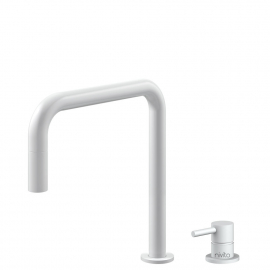 White Kitchen Faucet Pullout hose / Seperated Body/Pipe - Nivito RH-330-VI