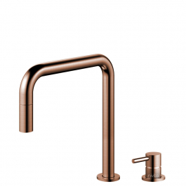 Copper Single Hole Kitchen Faucet Pullout hose / Seperated Body/Pipe - Nivito RH-350-VI