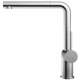 Stainless Steel Single Hole Kitchen Faucet Pullout hose - Nivito RH-600-EX