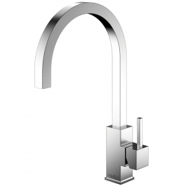 Stainless Steel Single Hole Kitchen Faucet - Nivito SP-100